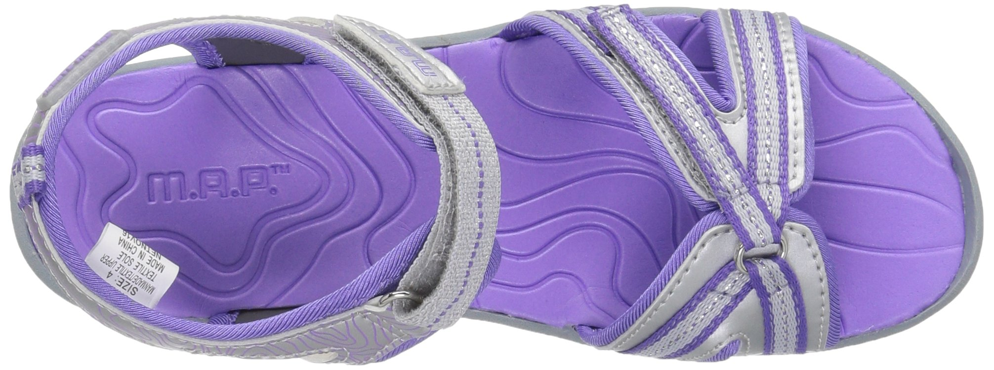 M.A.P. Lorna Girl's Outdoor Sandal, Silver/Purple, 2 M US Little Kid by M.A.P. (Image #8)