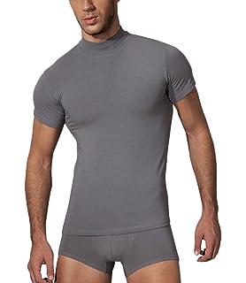 Doreanse Shirt Halbkragen Herren Slim Fit T-Shirt Sportshirt Mens Muscle  Fit T-Shirt af26523932