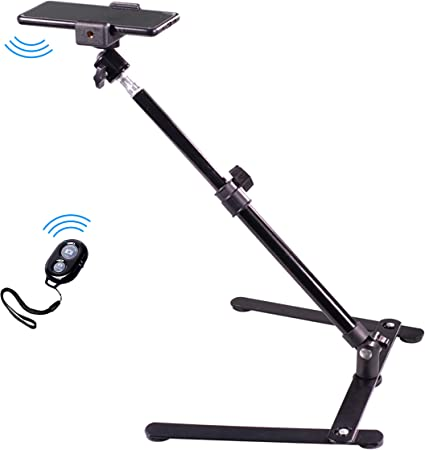 Pixlplay - Overhead Video Table Stand and Wireless Shutter Remote