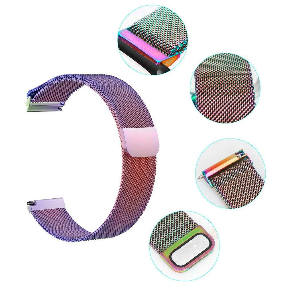 ChicGuide Fitbit Versa Armband, Milanese Fitbit Versa Ersatzarmband Edelstahl Fitbit Versa Armbänder (Bunt, Small)