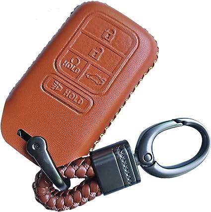 Honda CR-V Brown Leather Key Chain