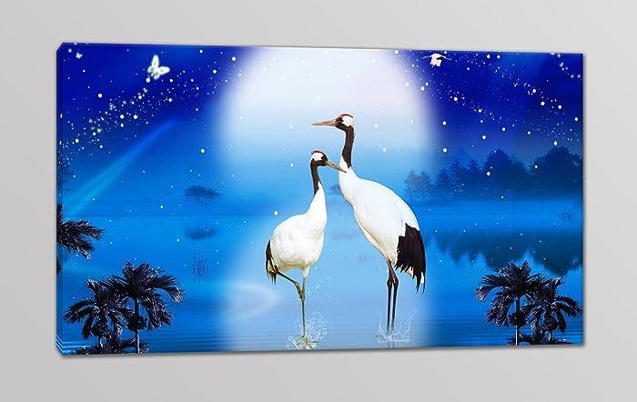 tris quadri moderni stampa su tela paesaggio naturale di notte ... - Arredamento Moderno Naturale