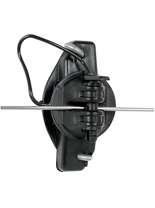Gallagher G687044 25 Pack Wood Post Pinlock Electric Fence Insulator Black