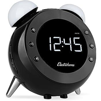 Amazon Com Electrohome Retro Alarm Clock Radio With