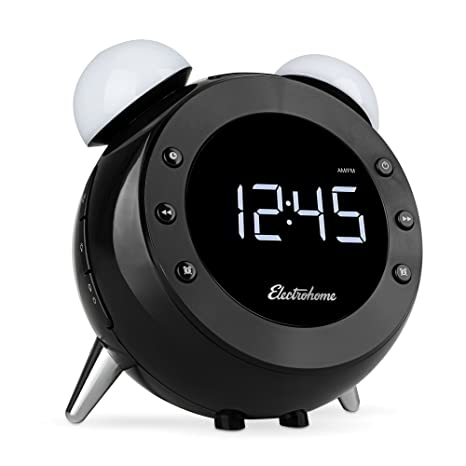 Electrohome Retro Alarm Clock Radio with Motion Activated Night Light and Snooze, Digital AM/FM Radio, Wake-up Light, Dual Alarm, Auto Time Set, ...