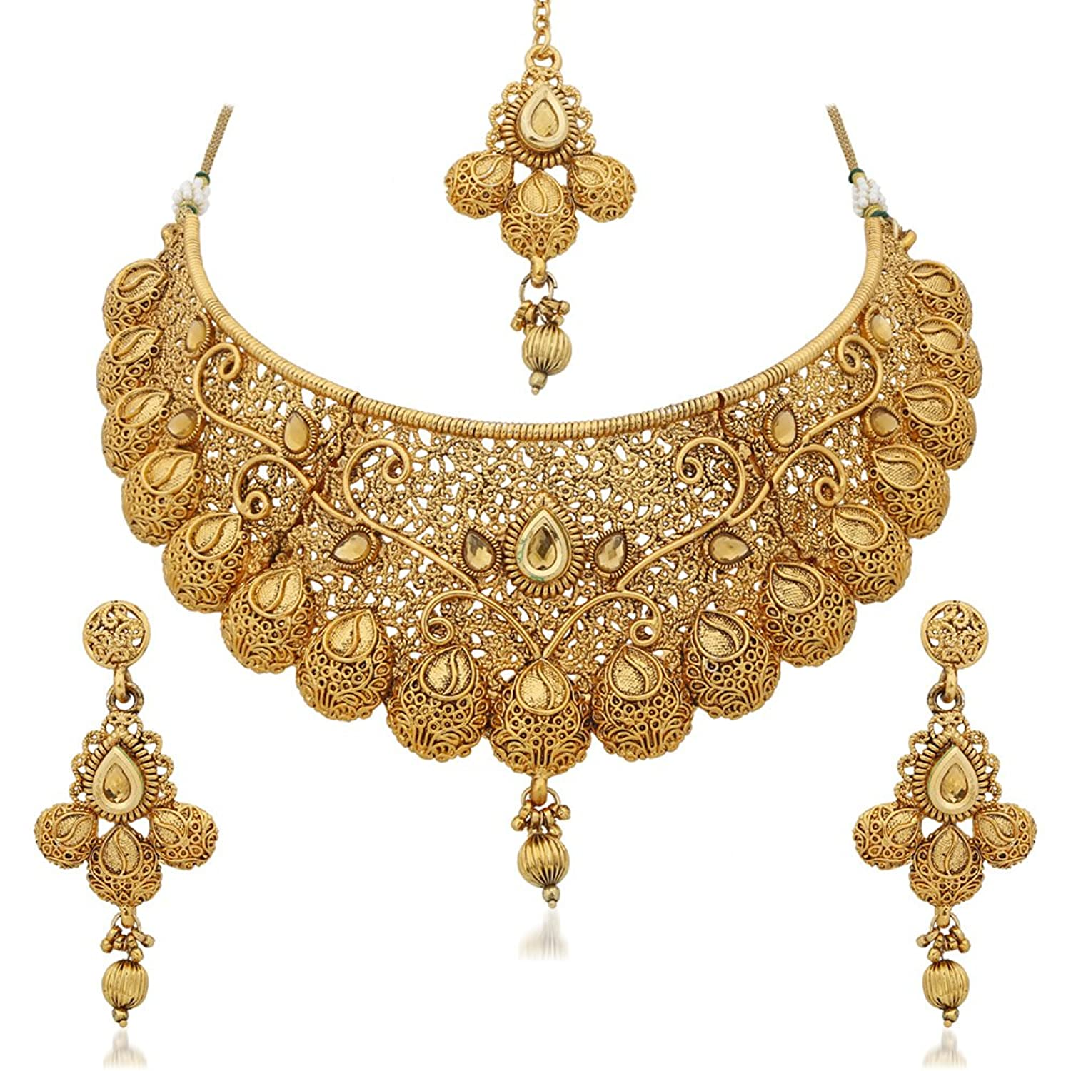 necklace set plated gold for online women shopping designer sukkhi buy jalebi sets