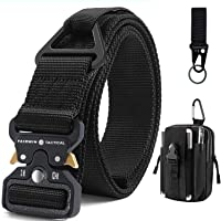 Fairwin Tactical Belt with Molle Pouch, Military Style Nylon Webbing Belt