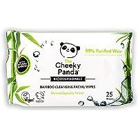 The Cheeky Panda – Gezichtsdoekjes, ongeparfumeerd | Pack van 25 doekjes | Make-up Remover, hypoallergeen…