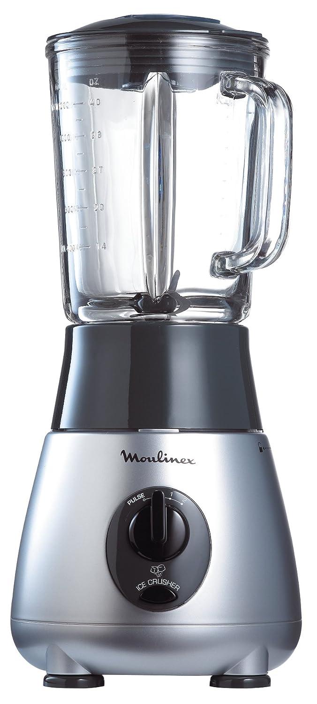 Moulinex DAE201 - Batidora (vaso de cristal, 2 velocidades, 1,2 L), color negro y plateado: Amazon.es: Hogar