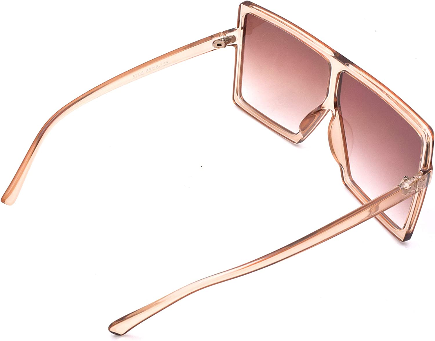 JUSLINK Oversized Square Sunglasses for Women Flat Top Fashion Shades