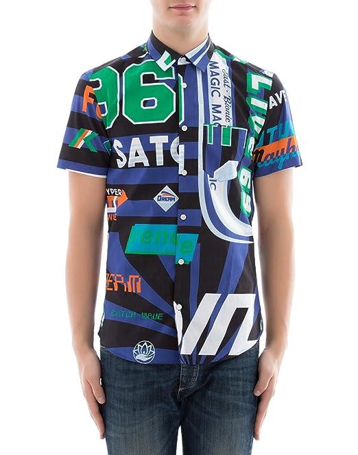 Kenzo Hombre F855ch5001ln75 Algodon Camisa