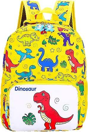 Mochila Infantil, BETOY Mochila para Niños de Dinosaurios Mochila Escolar Infantil Niño , Mochila Preescolar Lindo de Kindergarten Mochila Escolar Niños(amarillo)