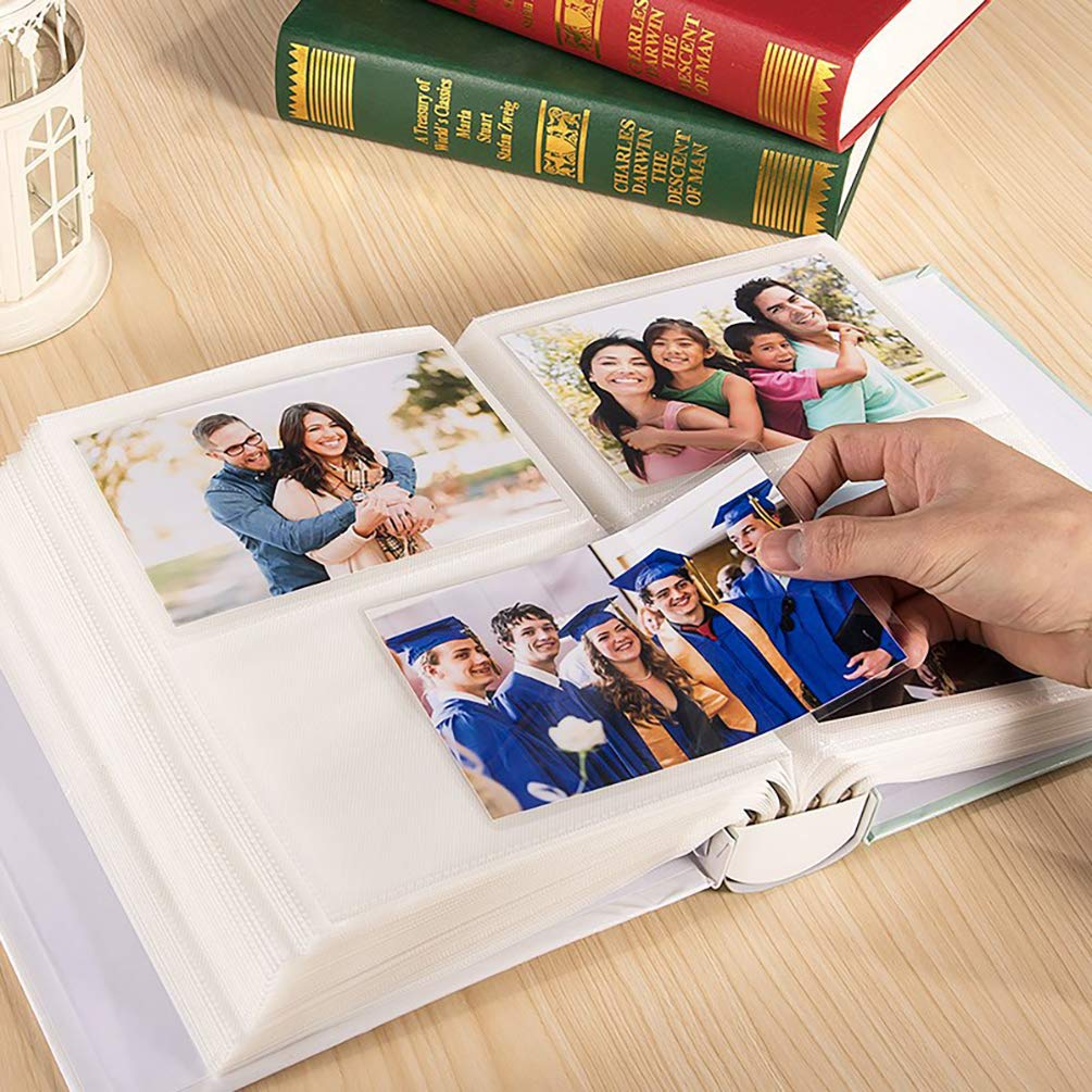 ALMIGHTY 2pcs Baby Photo Album 5x7 inch 200 Pockets Photo Album for Kids Girl Boy Cute Photo Album for Home Family Children Brown