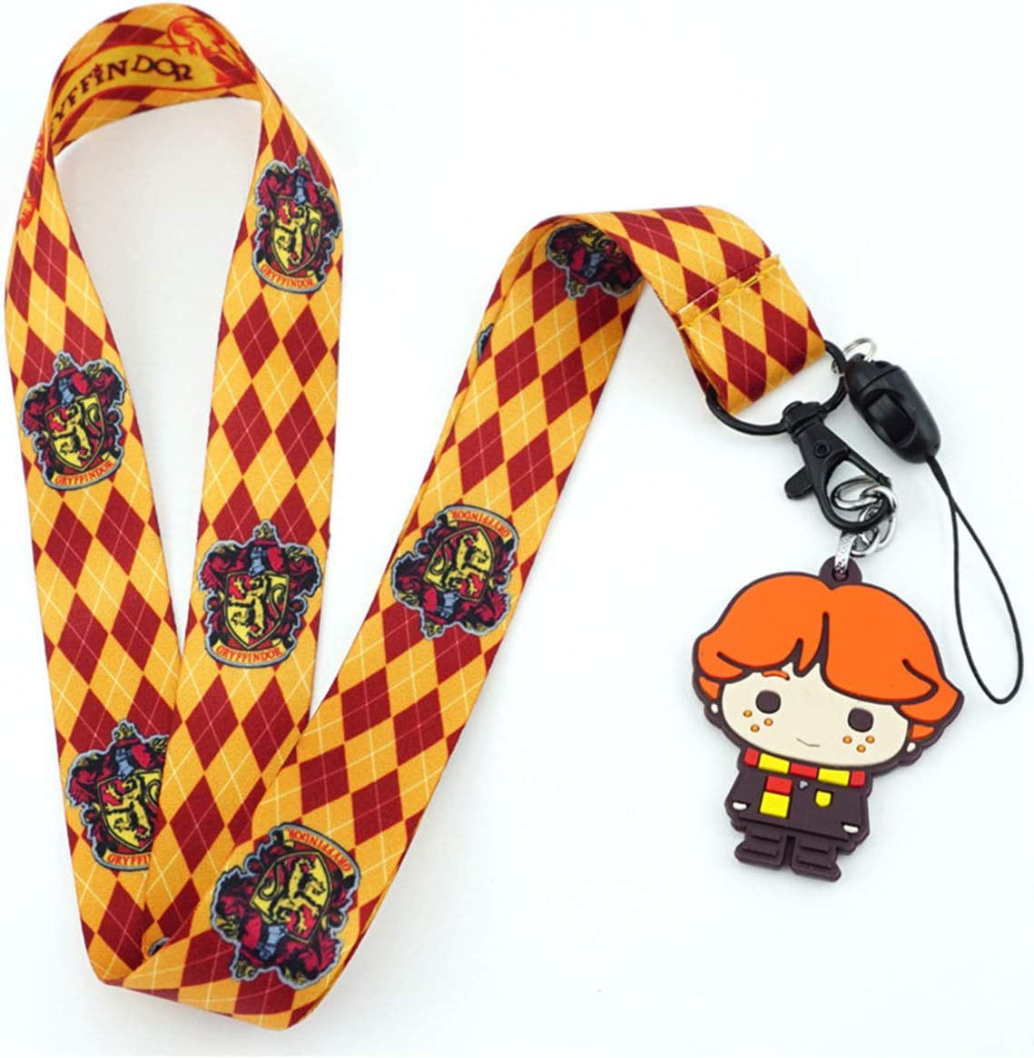 Hogwarts School of Witchcraft and Wizardry Neck Strap Lanyards for Keys ID Card Mobile Phone Strap Holder Rope Pendant Key Chain Light Khaki