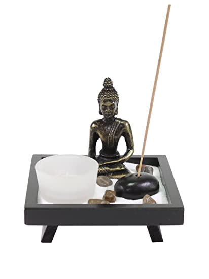 Delicieux Tabletop Buddha Zen Garden With Sand Rock Candle Holder Incense Burner Gift  U0026 Home Decor