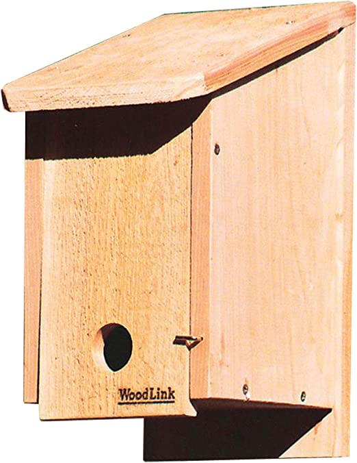 2 x Wooden Bat Boxes for Roosting with Landing Perch Nesting Nest Habitiats