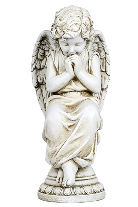 Amazon.com: Joseph Studio de ángel sentado sobre un pedestal ...