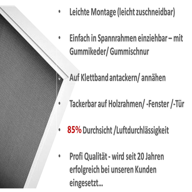 Draht Gaze f/ür Balkon Fenster T/ür 6,90/€//m/² Ersatz Fliegengitter Netz als Meterware oder Ersatzrolle Das Fensternetz aus Fiberglas-Gewebe 70/% 150 cm Gewebe in Schwarz Anthrazit