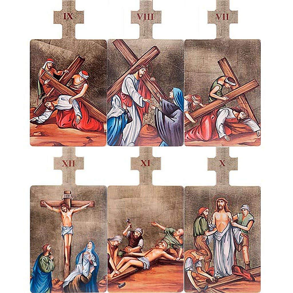Holyart Quadri Stazioni Via Crucis 15 Pezzi Legno