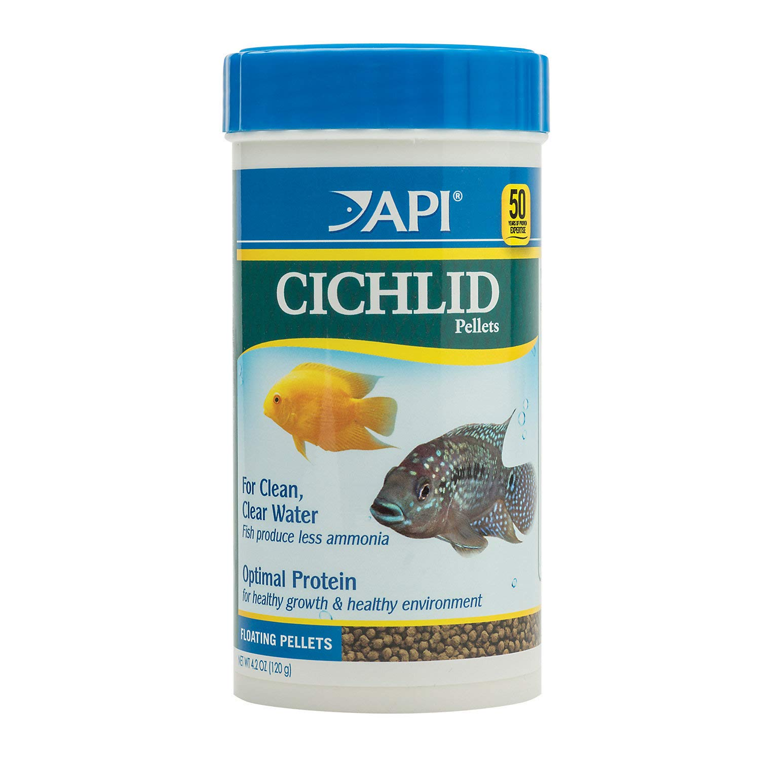 API Fish Food PELLETS, Formulated to Help Fish More readily use nutrients which Means Less Waste and Clean, Clear Water…