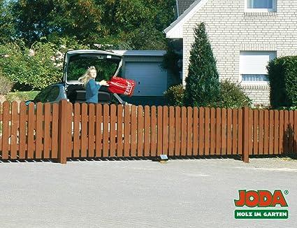 Joda Holz Doppeltor Vorgartenzaun 350x80 Zauntor Holztor Walnuss Amazon De Garten