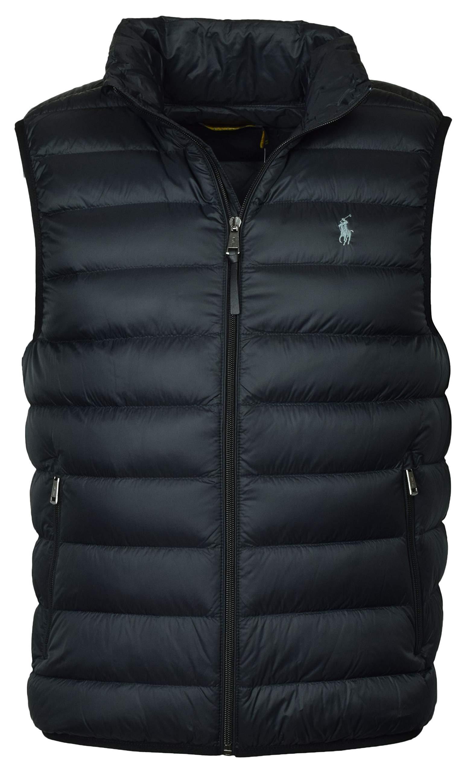 Polo Ralph Lauren Mens Full Zip Puffer Vest (Medium, Polo Black) by Polo Ralph Lauren