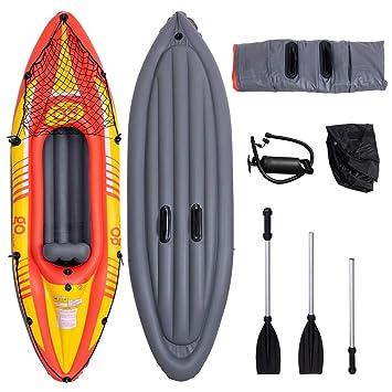 Amazon.com: Gymax Kayak, Kayak inflable, juego de 3 cámaras ...