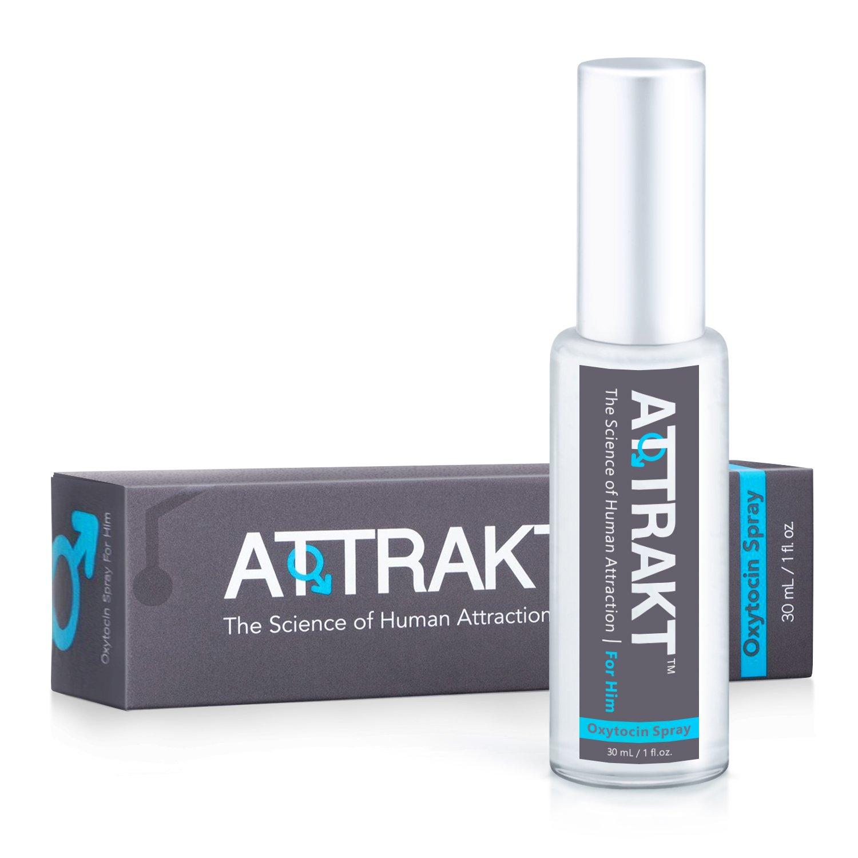Attrakt for him - male Oxytocin spray to fascinate her - with Pheromones
