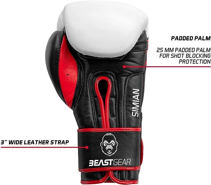 Sparring Pads Guanti da addestramento in Vera Pelle Bovina Modello Simian ? per Punch Bag Beast Gear Guanti da Boxe Boxing
