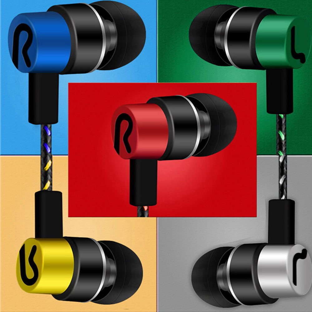 Tuscom Universal 3.5mm in-Ear Superb Bass Stereo Earbuds,1.2 m Ear Line,for Voice Calls and Music for Samsung Xiaomi iPhone Other Smartphones (Green) by Tuscom@ (Image #3)