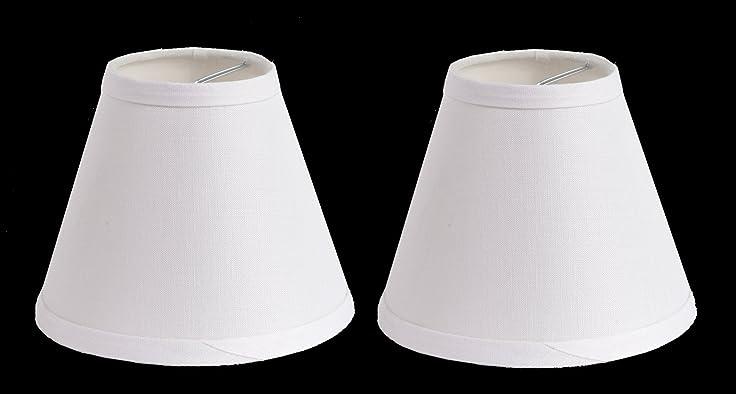 Urbanest 100% Linen Chandelier Lamp Shades, 6-inch, Hardback Clip ...