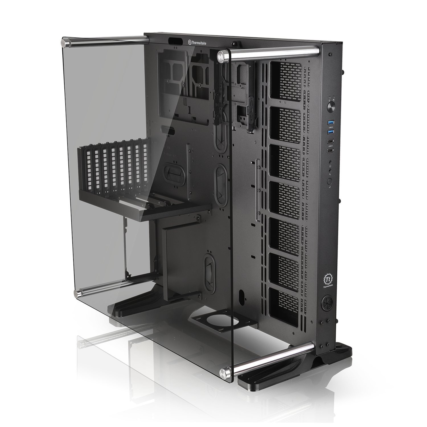 Thermaltake Core P7 Tempered Glass Edition E-ATX Open Frame Panoramic Viewing Tt LCS Certified Gaming Computer Chassis CA-1I2-00F1WN-00 by Thermaltake (Image #3)