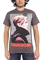 David Bowie - Low Profile Herren T-Shirt in der Holzkohle