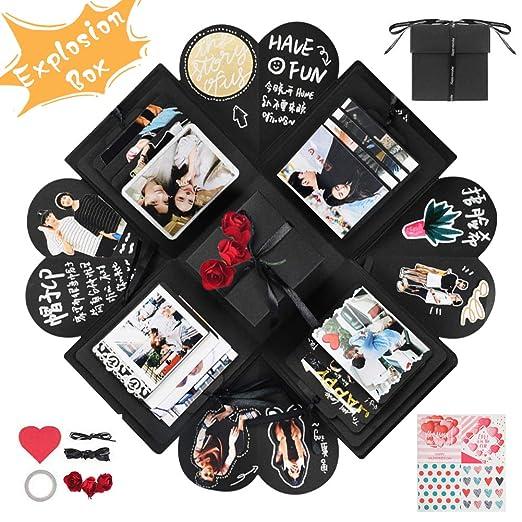 YITHINC Caja de Regalo DIY Álbum de Fotos Hecho a Mano,Creative Explosion Box como Regalo de Cumpleaños y Caja de Sorpresa sobre el Amor Abierto