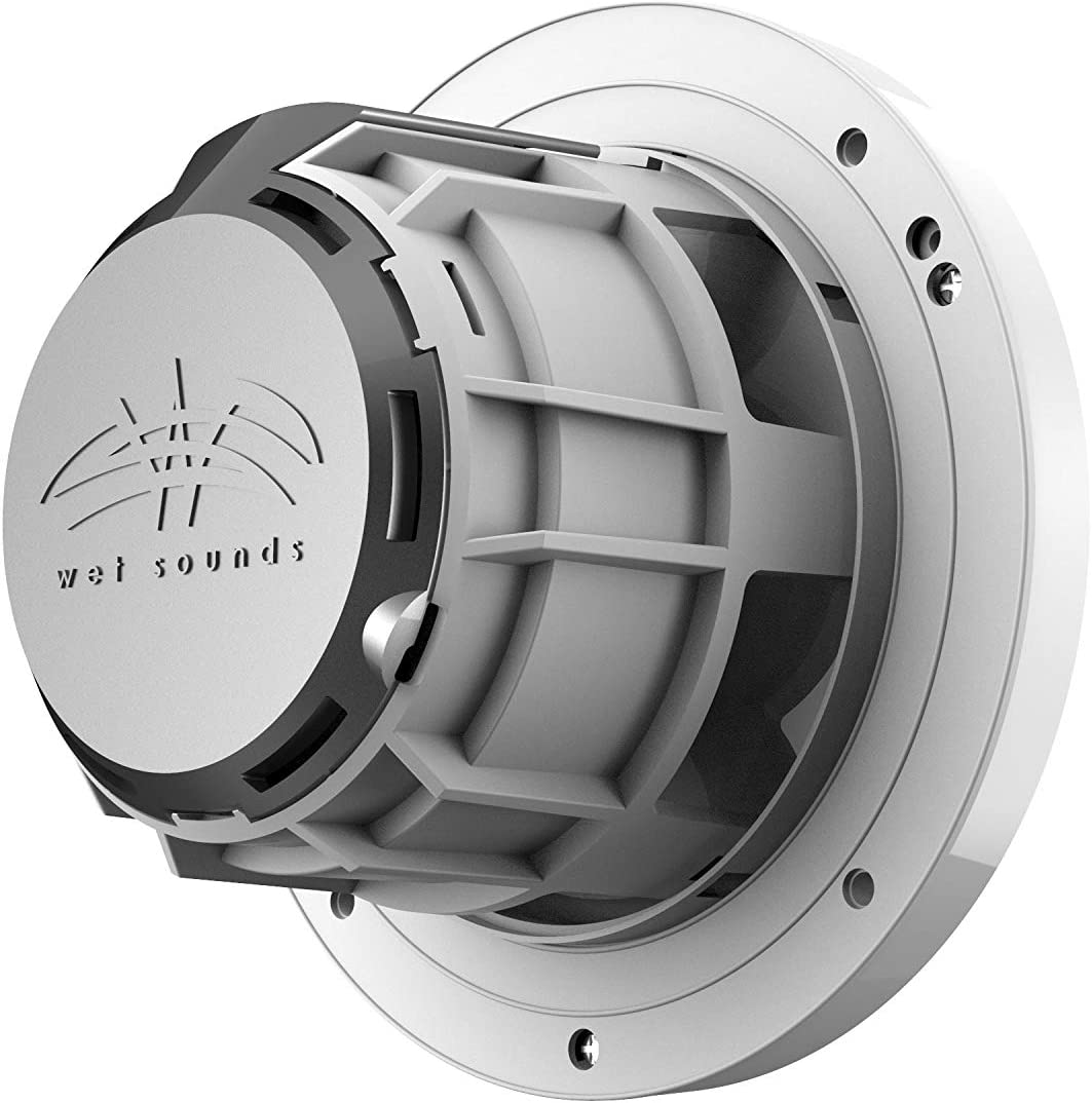 Wet Sounds REVO 6-SWW White Closed SW Grille 6.5 Inch Marine LED Coaxial Speakers Pair