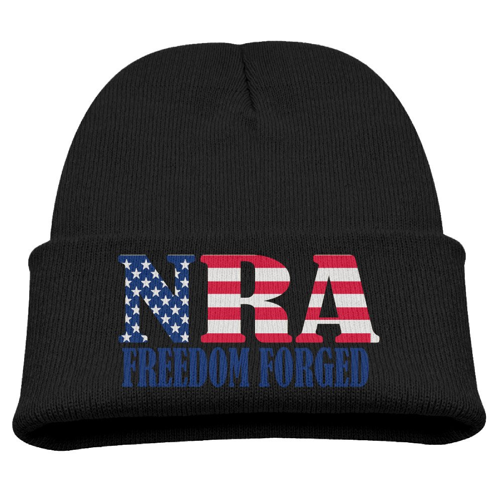 ce75e97b690d Amazon.com: NRA Freedom Forged Since 1871 Warm Winter Hat Knit Beanie Skull  Cap Cuff Beanie Hat Winter Hats Children: Clothing