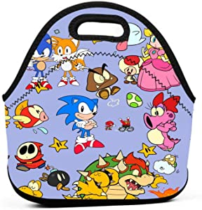 So-n-ic Cartoon Lunch Bag Insulated Lunch Box Tote For Boys Teens Women Personalized Lunchbox Handbag Used For Work/School/Picnic