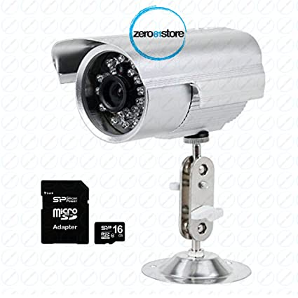 Cámara de videovigilancia con grabación en tarjeta micro SD por infrarrojos de 36 LED.