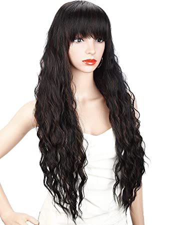 Amazon Com Kalyss 26 Inches Curly Wavy Synthetic Light Brown