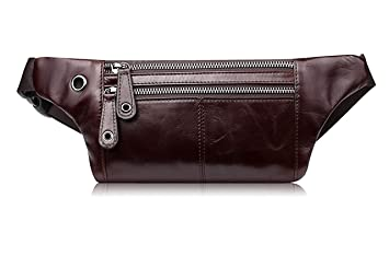 Multipurpose Men/'s Earphone-hole Satchel Genuine Leather Cross Body Shoulder Bag
