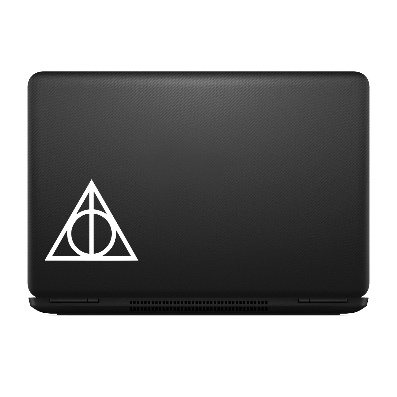 """Bargain Max Decals HP Deathly Sticker Decal Notebook Car Laptop (2 Stickers of 2"""") (White)"""