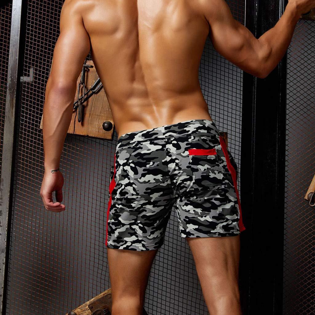 Cuekondy Men 2019 Summer Fashion Camouflage Swim Trunks Beach Board Shorts Casual Quick Dry Running Sports Short Pant
