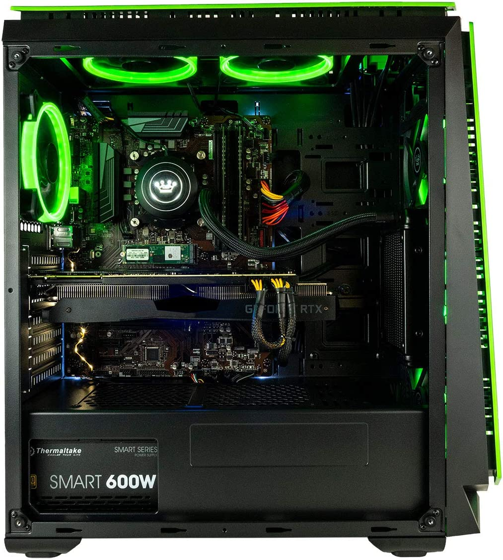 CUK Mantis Gaming PC Liquid Cooled Intel Core i9-9900K, NVIDIA GeForce RTX 2080 Ti 11GB, 32GB RAM, 1TB NVMe SSD 2TB, 750W Gold PSU, Z390 Motherboard Best Tower Desktop Computer for Gamers