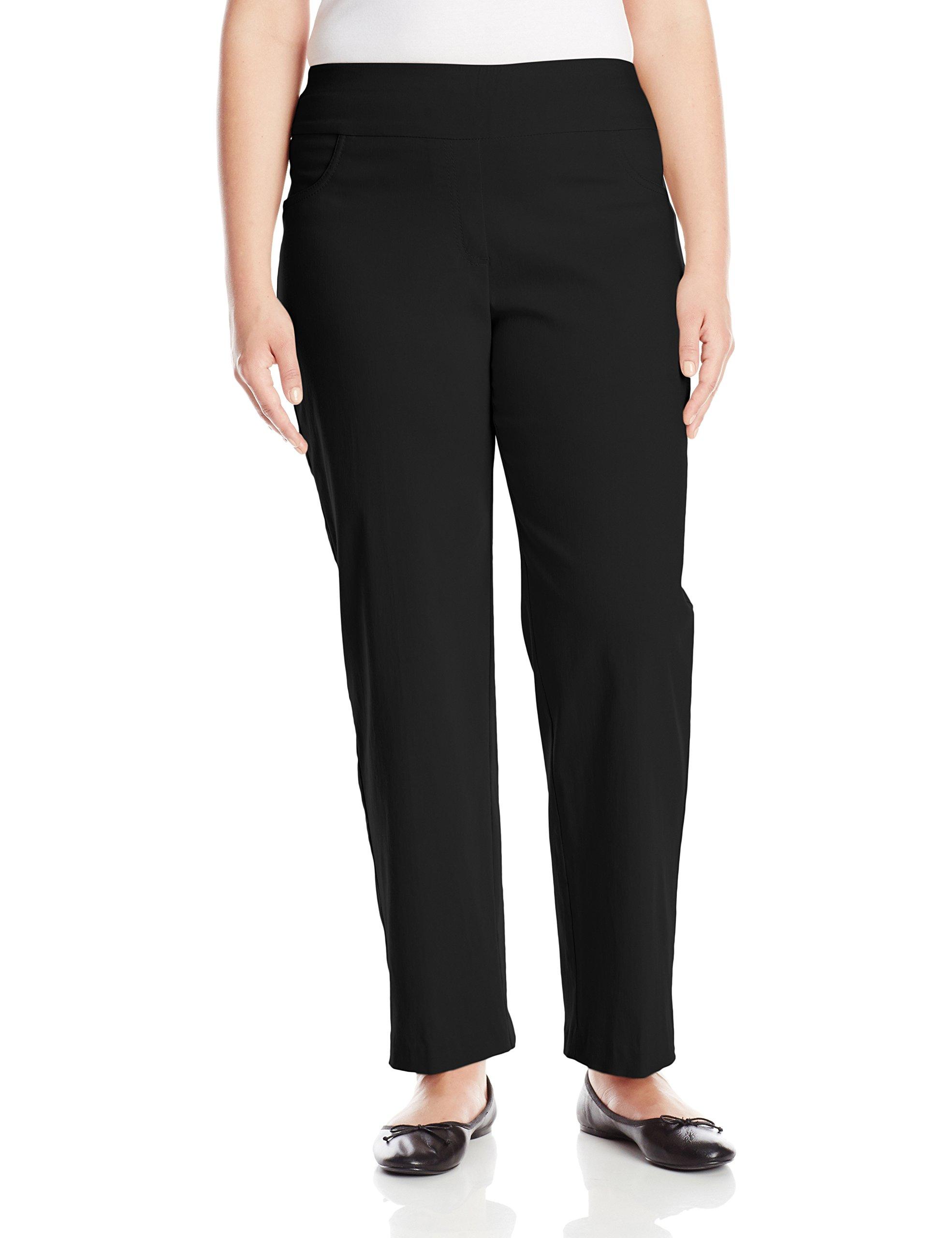 Ruby Rd. Women's Plus-Size Plus Pull-On Solar Millennium Super Stretch Pant, Black, 16W