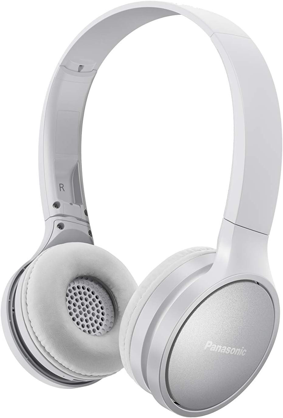 Panasonic RP-HF410BE-W- Auriculares Inalámbricos Minimalistas (Bluetooth, Unidad Control 30 mm, Imán de Neodimio, Plegable, 20h Duración, Control Voz, Carga Rápida) Color Blanco