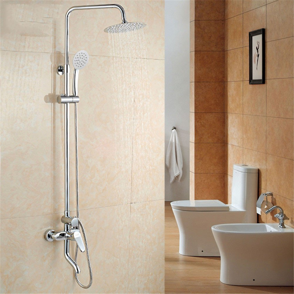 JIAHENGY Shower,Huge shower copper pipe lift shower suite shower top injection hand painted Creative personality beautiful fashion geblackus