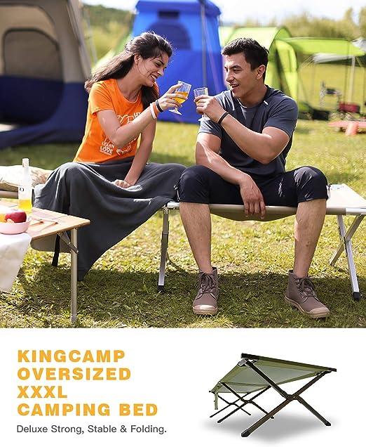KingCamp XXXL Cama de Camping Plegable Plegable Estable Fuerte
