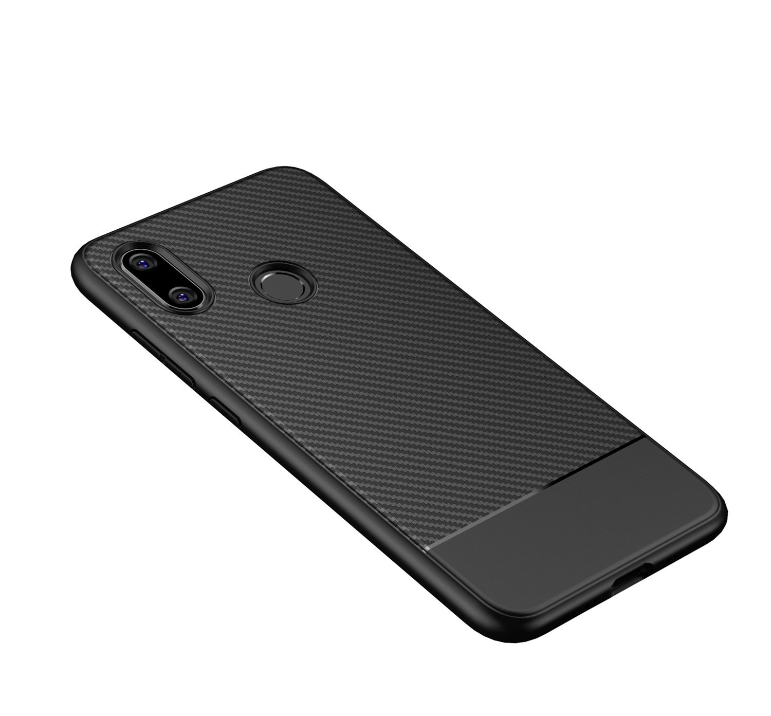 LANDEE Xiaomi mi8 Case, Ultra Slim with Carbon Fiber Design Phone Case Cover for Xiaomi Mi 8 - Black