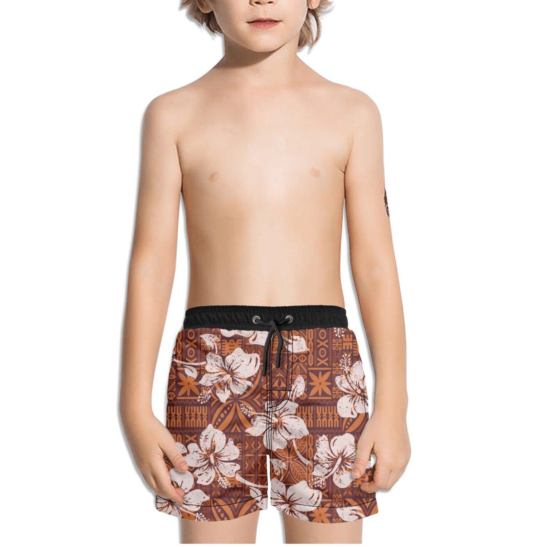 Ouxioaz Boys Swim Trunk Vintage Artificial Flowers Beach Board Shorts