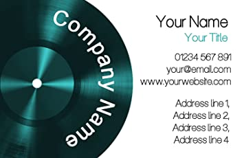 green lp music record personalized business cards - Personalized Business Cards